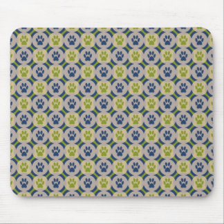 Paws-for-Style Mouse Pad (Olive/Navy)