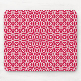 Paws-for-Style Mouse Pad (Red)