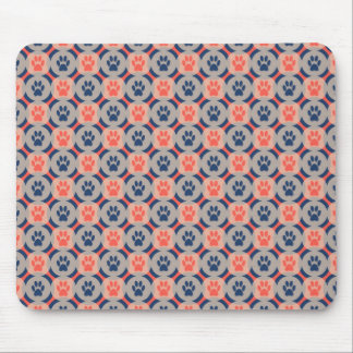 Paws-for-Style Mouse Pad (Spice/Navy)
