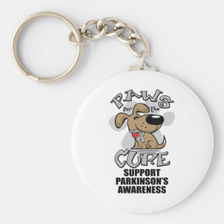 Paws for the Cure Dog Parkinson's Disease Keychain