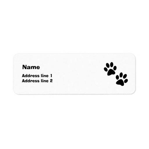 Paws Return Address Label