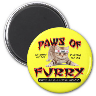 Paws Of Furry 2 Inch Round Magnet