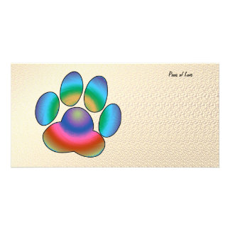 Paws of Love Picture Card