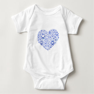 Paws of the Heart Baby Bodysuit