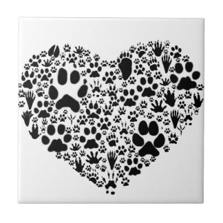 Paws of the Heart Tile