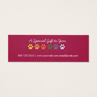 Paws Patterns Pet Sitter Groomer Holiday  Gift Tag
