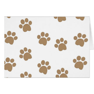 Paws Prints Greeting Card