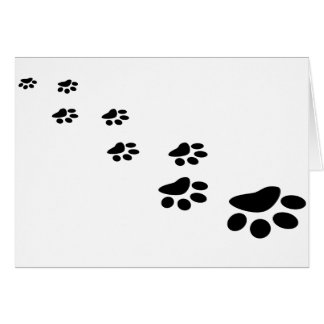 PAWS! (puppy dog paw prints) ~ Greeting Card
