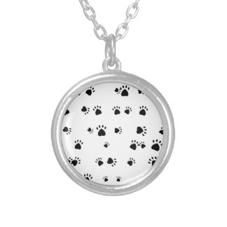 Paws Silver Plated Necklace