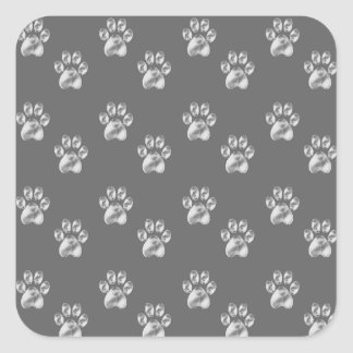 paws square sticker