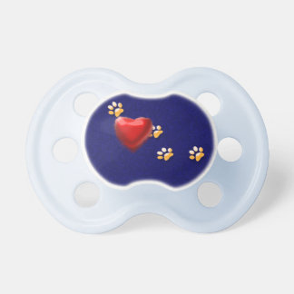 PAWS THROUGH MY HEART BABY PACIFIERS