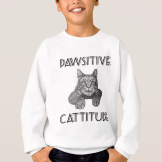 Pawsitive Cattitude Cat Sweatshirt