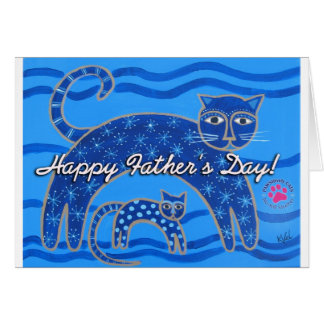 PAWSitively CATS Father's Day Card