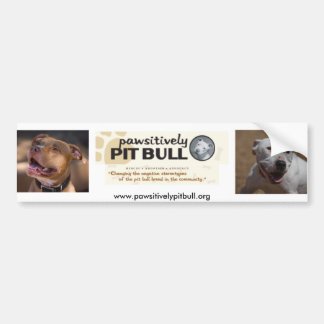 Pawsitively Pit Bull Bumper Sticker