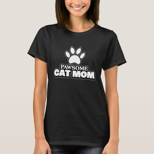 Pawsome Cat Mom T-Shirt