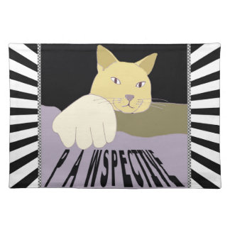 Pawspective Cat Art in Perspective Placemat