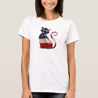 Pawtriotic feline womens shirt design
