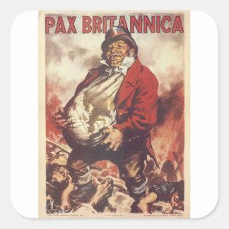 Pax Britannica  Propaganda Poster Square Sticker
