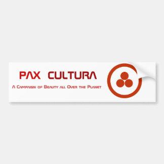Pax Cultura stationnaire Autocollant De Voiture