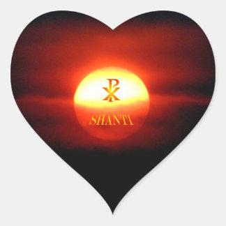 PAX SHANTI HEART STICKER