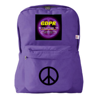 Paxspiration GDPR American Apparel™ Peace Backpack