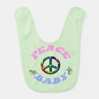 Paxspiration Peace Baby Bib