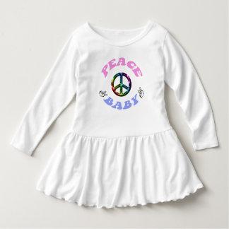 Paxspiration Peace Baby Toddler Ruffle Dress