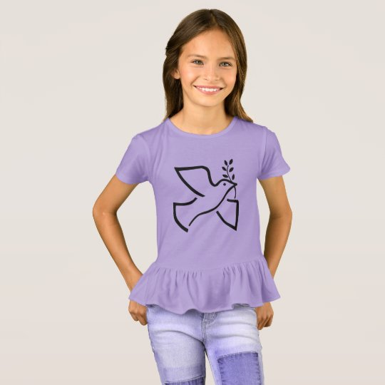 Paxspiration Peace Dove Kids' Ruffle Tee