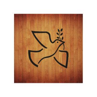 Paxspiration Peace Dove Wood Art Wood Prints