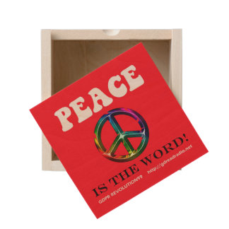 Paxspiration Peace Is the Word Keepsake Box