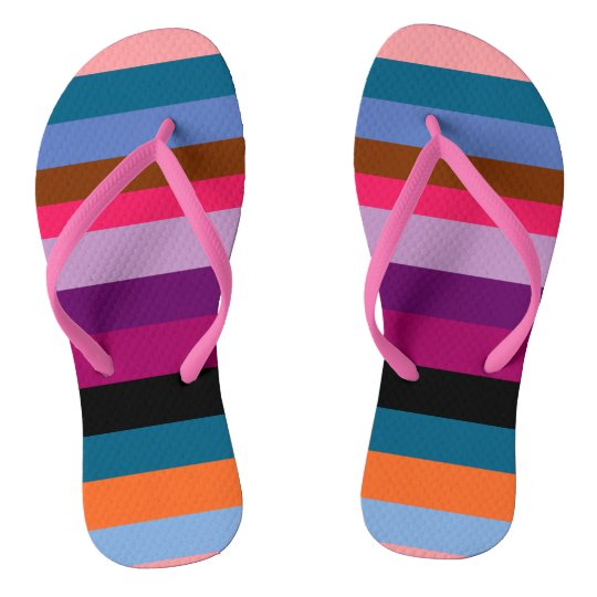 Paxspiration Peace Stripes Flip Flops