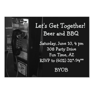 Pay Phone Get Together Invitation
