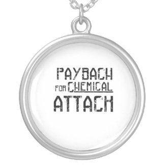 Payback For Chemical Attack Syria Refugee Silver Plated Necklace