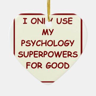 paychology psychologist ceramic ornament