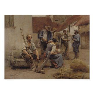 Paying the Harvesters, 1882 Poster