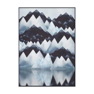 Paynes Gray Watercolor Mountains Canvas Print
