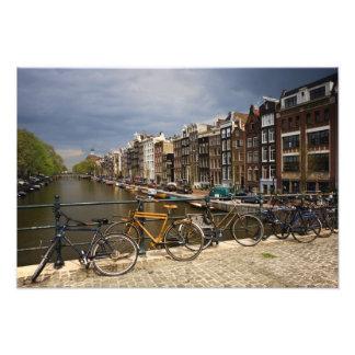 Pays-Bas, Amsterdam. Vue de canal de Photographie D'art