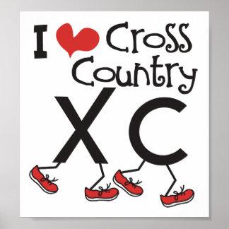Pays croisé du coeur I (amour) courant XC Poster