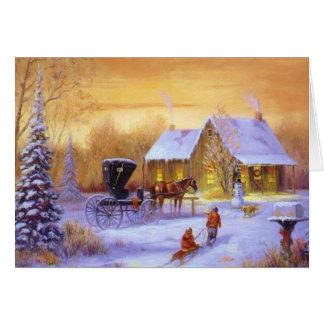 Pays démodé Christmastime Carte