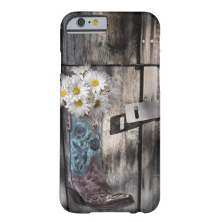 pays occidental en bois de bottes de cowboy de coque barely there iPhone 6