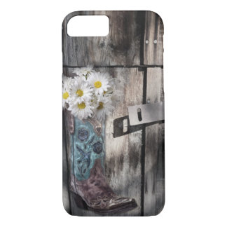 pays occidental en bois de bottes de cowboy de coque iPhone 7