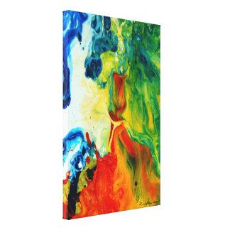Paysage abstrait de la torche 2 légers toiles