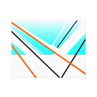Paysage abstrait de minimaliste de port de brise toile tendue sur châssis
