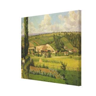 Paysage aux Patis, Pointoise Canvas Print