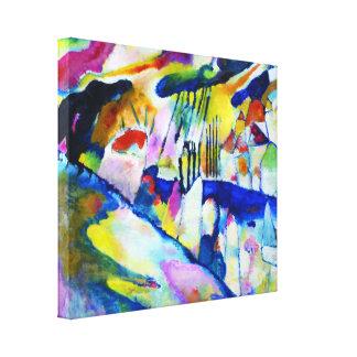 Paysage avec la pluie par Wassily Kandinsky Toile Tendue