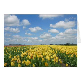 Paysage de festival de tulipe de ressort carte de vœux