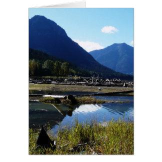 Paysage de nature de lac mountain carte
