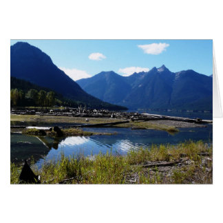 Paysage de nature de lac mountain carte de vœux