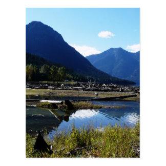 Paysage de nature de lac mountain carte postale