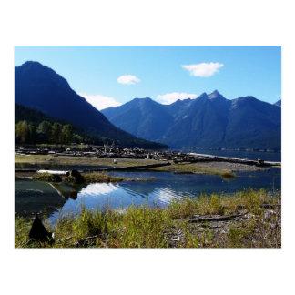 Paysage de nature de lac mountain cartes postales
